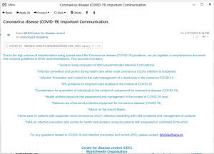 Email covid-19 cyber attack