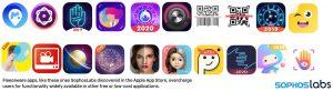 Malicious Fleeceware - App icons